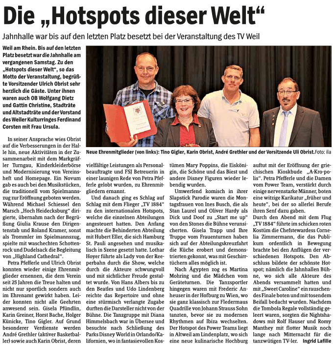 """Wochenblatt: Die """"Hotspot dieser Welt"""""""